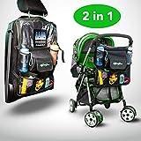Protection Siège auto enfant–mybabyboss Siège auto enfant, protège siège arrière voiture, Sac Poussette. écran tactile pour iPad, lavable taille 68x 43cm