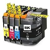 PERSEUS LC229XL LC225XL Replacement für Brother LC229 LC225 XL Hoher Reichweite Druckerpatronen Multipack Set(1 Schwarz,1 Cyan,1 Magenta,1 Gelb)kompatibel mit Brother MFC-J5320DW MFC-J5620DW MFC-J5625DW MFC-J5720DW