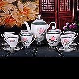 Tee-Glasur Von Hand Bemalt Keramik-Kaffee Tee Zu Hause Kaffeemaschine Tasse Und Untertasse Setzen