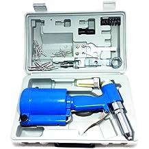 Remachadora neumática de aire comprimido de maletín con accesorios y remaches