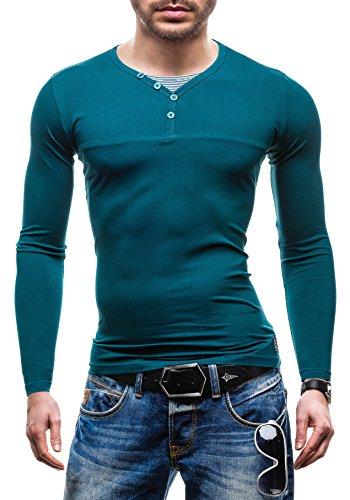 BOLF - T-shirt - manica lunga - GLO STORY 5965 - Uomo - XL Verde (T-shirt Manica Lunga Camicia Verde)