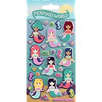 Paper Projects 01.70.19.008 Mermaid World Kidscraft Puffy Sticker Pack