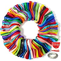 LLParty Party Balloons 12 Inches Rainbow Set (100 Pack), Assorted Colored Party Balloons Bulk, Made with Strong Latex, for Helium Or Air Use. Birthday Balloon Arch Supplies, Decoration Accessory
