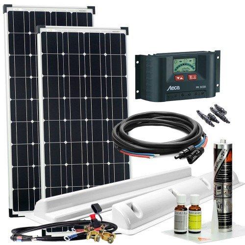 Watt 200 Solar-panel Wohnmobil (Offgridtec Wohnmobil Solaranlage XL, 200 W, 12 V Komplettsystem Caravan Solarkit, 002735)