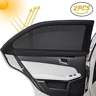 Kinder Auto-Sonnenschutz(2 Stück), Infreecs Auto Sonnenschutz | Selbsthaftende Sonnenblenden für Seitenfenster, blockt mehr als 97% der schädlichen UV-Strahlung, Baby Autosonnenschutz passt universell