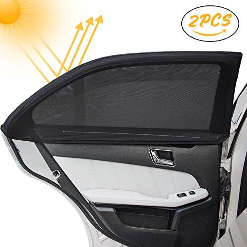 Kinder Auto-Sonnenschutz(2 Stück), Infreecs Auto Sonnenschutz | Selbsthaftende Sonnenblenden für Seitenfenster, blockt mehr als 97% der schädlichen UV-Strahlung, Baby Autosonnenschutz passt universell -