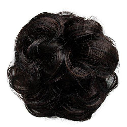 PRETTYSHOP Haargummi Haarteil Zopf Haarverdichtung Scrunchie Hochsteckfrisuren diverse Farben