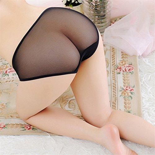 Czj-Innovation Donna Pizzo Biancheria intima Mutande Sexy Slip Culotte - Dimensioni libero Bianca