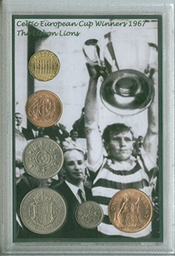 Glasgow-Celtic-Bhoys-Hoops-Billy-McNeill-The-Lisbon-Lions-Vintage-European-Cup-Final-Winners-Retro-Coin-Present-Display-Gift-Set-1967