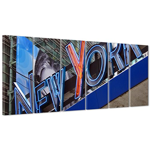 Bild auf Leinwand Canvas-Gerahmt-fertig zum Aufhängen-New York Times Square-NY City USA Amerika 190x70cm