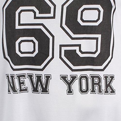 Chocolate Pickle ® Neue Damen Baseball Gerechter Stripy 69 Stiere Over Größe T-Shirts 40-54 69 Bulls White