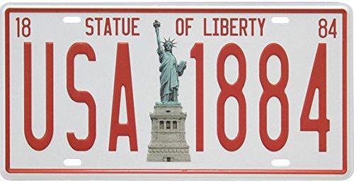Freiheitsstatue USA 1884 Auto-Nummernschild Vintage Home Decor Blechschild Bar Pub Dekorative Metall Zeichen Kunst Malerei Plakette
