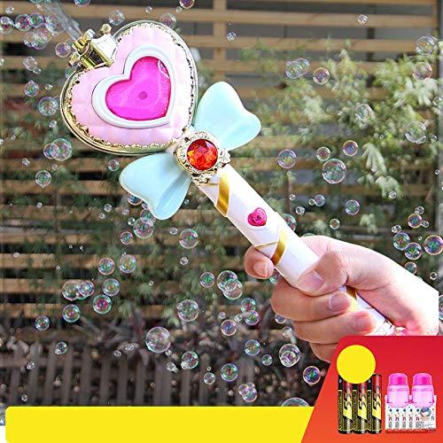 e Magic Wand Bubble Gun Spielzeug Blase mit Musik und Licht Kinder Party Geburtstag Geschenk ()