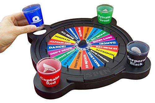 """Paladone, Gioco alcolico """"La ruota della sfortuna"""", con bicchieri per shottino, Multicolore"""