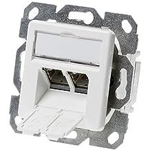 Teleg/ärtner J00020/A0511/RJ Stahl geb/ürstet Stecker Steckdose