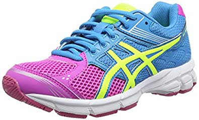 Asics Gel-pulse 7 Gs, Chaussures de Running Entrainement Mixte enfant - Rose (pink Glow/flash Yellow/turquoi 3507), 32 EU (13 UK)
