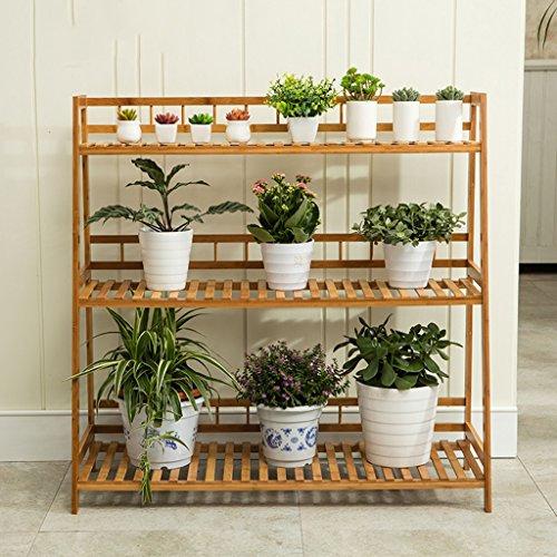 &Etagères de plantes Support de fleurs en bois massif Étagère de fleurs en bambou Intérieur et extérieur Balcon Salon Échelle de plantes à échelle multiple Pots à fleurs décoratifs ( taille : 100*38*98 )