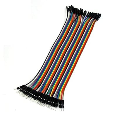 SMAKN® 40 Pcs 1 Pin Male to Female Jumper Cable Wires 20cm