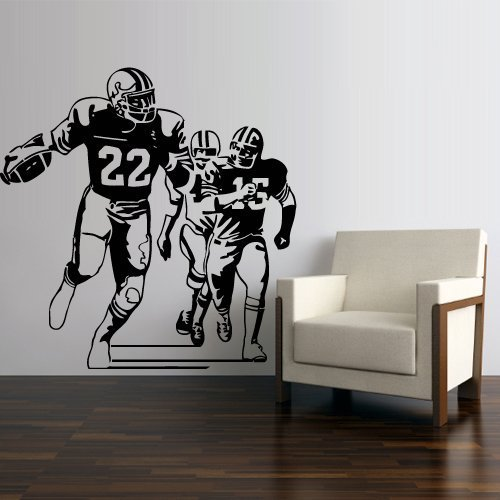 Wall Decal Vinyl Sticker Decals Football Rugby Sport Helmet Play American Man Ball Like Painting (Z3000) by StickersForLife