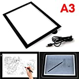 USB LED Table Lumineuse Dessin A3 Portable Graphique Ultra-Plate Tracant Tablette Dessin Luminosite