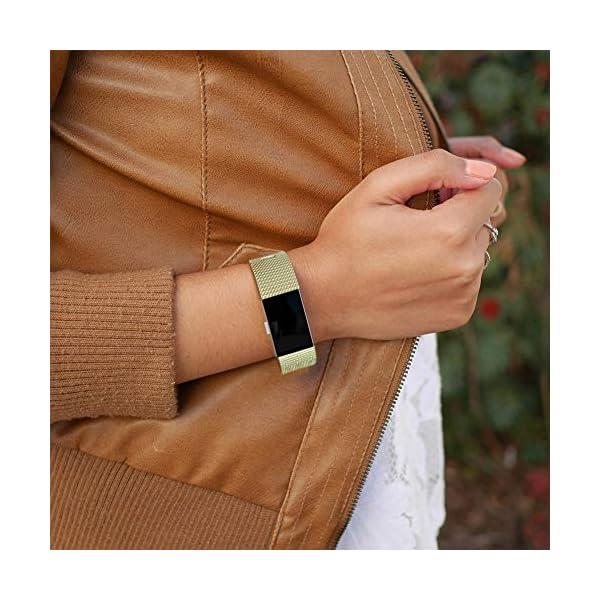 Gogoings Correa para Fitbit Charge 2 Pulsera Ajustable Correa de Reemplazo Deportivo Compatible con Fitbit Charge2 para… 7