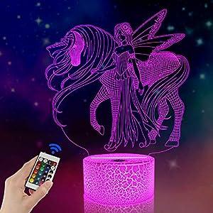 Fullosun Ilusión nocturna 3D, unicornio,