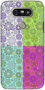 The Racoon Lean printed designer hard back mobile phone case cover for LG G5. (Light Flor)