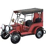 LyJ+evanism Modelo de automóvil Vehículos de Juguete, Arte de Hierro, Europa y América Modelo de automóvil Retro Vintage, Estante para Libros Vinoteca Hogar Artesanía Decoración ( Color : Rojo )
