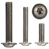OPIOL QUALITY | Linsenkopfschrauben mit Flansch, Innensechsrund (ISR) M5x6 (50 Stück) ISO 7380 | TORX | Flachkopfschrauben | rostfrei | Linsenkopf