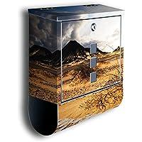 Briefkasten mit Deko Sonnenaufgang Natur BK283 Edelstahl