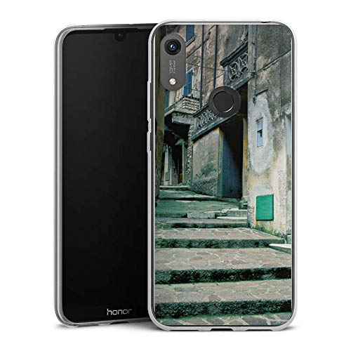 DeinDesign Slim Case kompatibel mit Huawei Honor 8A Silikon Hülle Ultra Dünn Schutzhülle Gasse Gebaeude Treppe - Haut-gasse