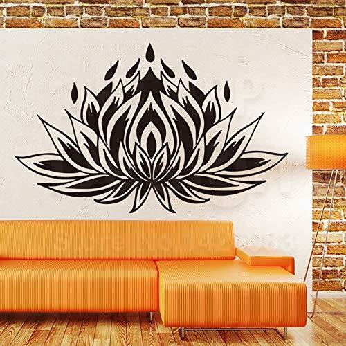 inyl Home Dekor Religion Lotus Wand Aufkleber billige bunte Haus Dekoration Yoga Pflanzendekals in Familienzimmer ()