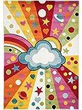 benuta Kinderteppich Noa Universe Multicolor 160x230 cm | Teppich für Spiel- und Kinderzimmer
