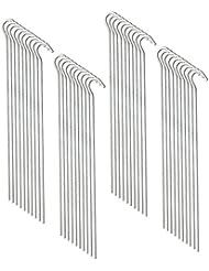 COM de Four® 40x tienda de campaña piquetas de acero galvanizado, curvado, 23cm de largo, 4,5mm