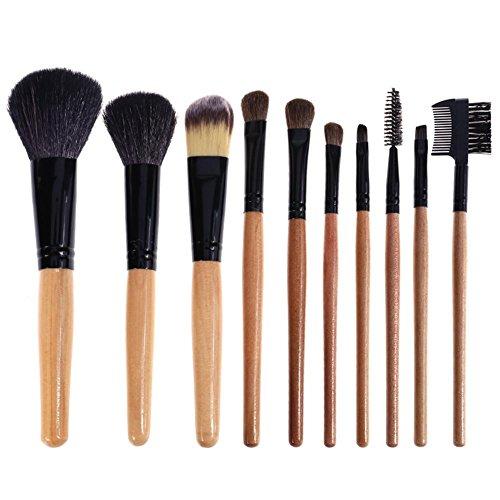 100Make-up-Pinsel mit Hand Halter PU Make-up-Tasche Foundation Beauty Tools