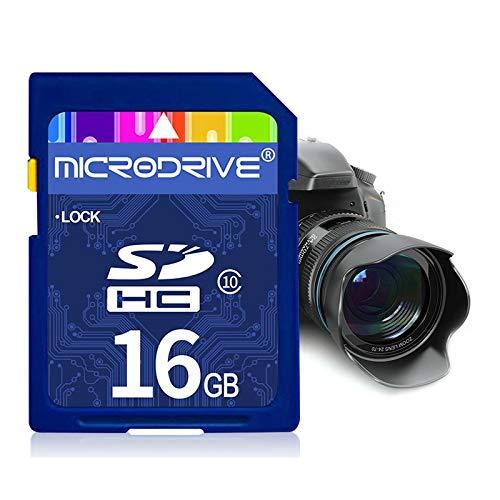 Mircodrive 16 GB High Speed   Class 10 SD-Speicherkarte für alle digitalen Geräte mit SD-Kartensteckplatz Durable