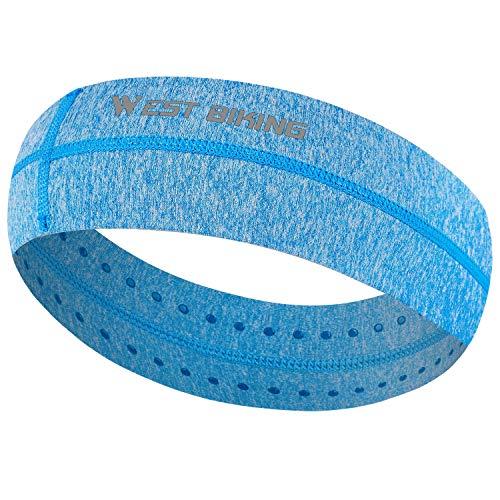 Sport Stirnband für Männer Frauen, Feuchtigkeitstransport Trainieren Schweißband Rutschfeste, dehnbare Kopfbedeckung für Laufen, Radfahren, Yoga, Training, Tennis,...