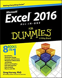 Excel 2016 All-in-One For Dummies by [Harvey, Greg]