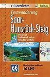 Hikeline Fernwanderweg Saar-Hunsrück Steig 170 km: Wandern im Dreiländereck - rund um Mosel, Saar und Nahe, Wanderführer und Karte, 1:35.000, wetterfest -