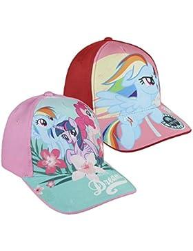 Pack 2 gorras de tela adaptables 2 diseños diferentes MY LITTLE PONY azul y roja
