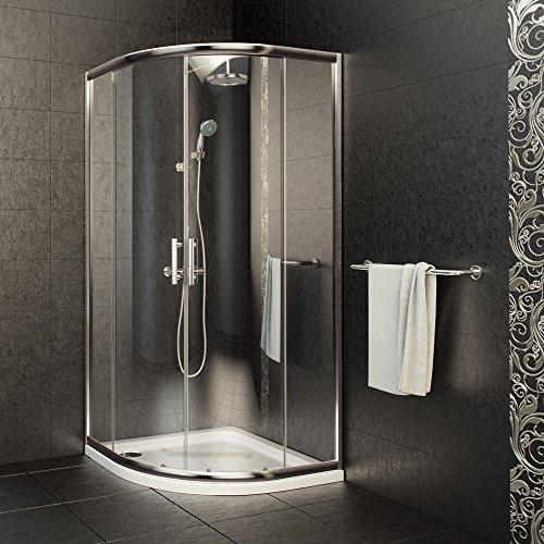 Viertelkreis Duschkabine Sicherheitsglas 90×90 cm im Test - 2