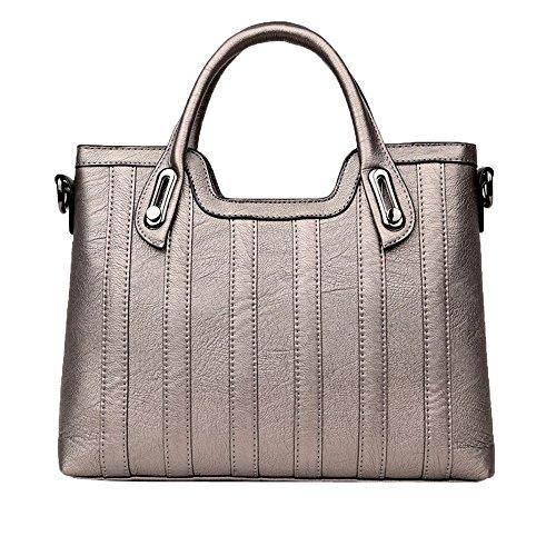 PASAJ Damen Tragetaschen Damen Schultertasche Elegante Weiche Lederhandtaschen,Gold-S (Small Classics Hobo)