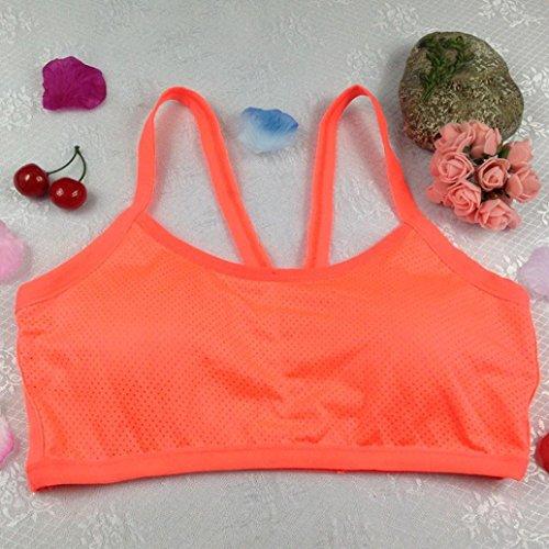 OVERMAL Femmes Yoga Des sports Soutien-gorge Orange
