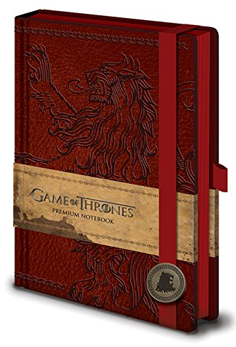 Game of Thrones Premium Notebook A5 Lannister Pyramid, usato usato  Spedito ovunque in Italia
