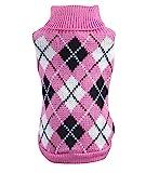 YiJee Haustier Hund Katze Warme Pullover Kleidung Kleine Mantel Teile Rose L