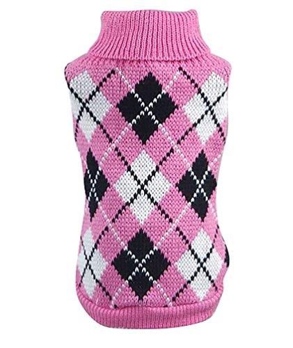 YiJee Haustier Hund Katze Warme Pullover Kleidung Kleine Mantel Teile Rose 2XL