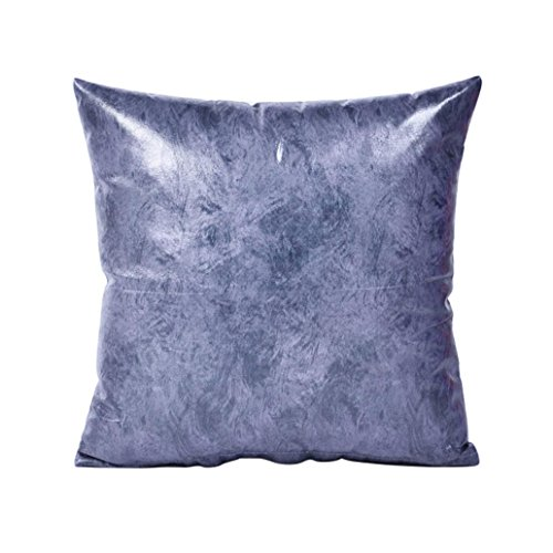 Collectsound retro in pelle sintetica custodia per cuscino divano letto cuscino home auto decor dark gray
