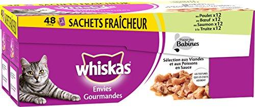 Whiskas Set DE 48 Sachets Fraîcheur Envies Gourmandes...