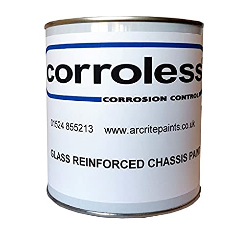 Corroless Glass Reinforced Black Rust Killer Chassis Paint 1 Ltr