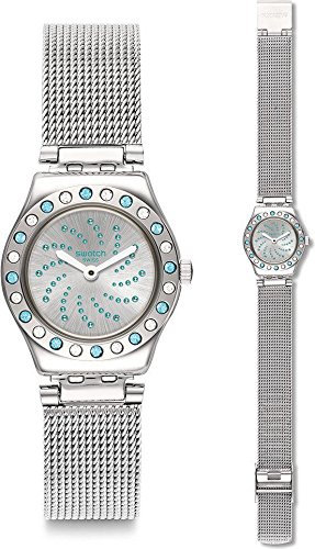 Swatch Orologio Analogico Quarzo Donna con Cinturino in Acciaio Inox YSS320M